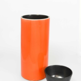 Vase orange Georges Jouve