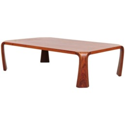Tendo Mokko Japan, c. 1960 laminated and bent rosewood plywood 59 w x 29¾ d x 13¼ h in 150 x 76 x 34 cm